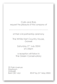 wedding invitations kent wedding invitation wording civil partnerhship ceremony exle