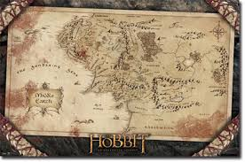 map hobbit hobbit an journey middle earth map poster