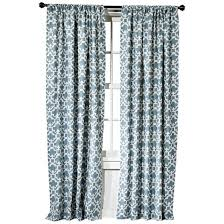 Silver And Blue Curtains Farrah Fretwork Curtain Panel Threshold Target