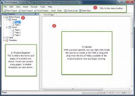 form designer navigate workspace form designer user guide epi info cdc