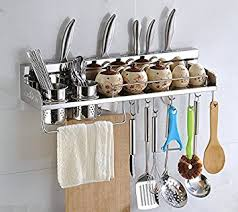 Stainless Steel Wall Spice Rack Amazon Com Multipurpose Kitchen Utensils Holder Organizer 23 5