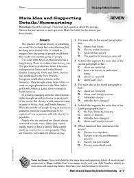 nonfiction main idea worksheets worksheets