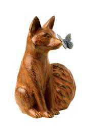 curious fox statue lawn and garden ornaments gardeners
