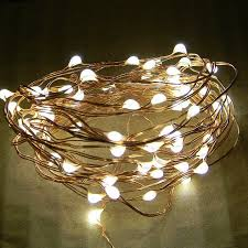 72 dew drop leds on 12 foot copper wire string light battery