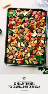 20 healthy dinners you can meal prep on sunday the everygirl