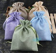 linen favor bags burlap linen fabric favor bags drawstring pouch gift