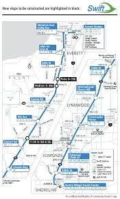 Seattle Public Transit Map by New Stops For Swift
