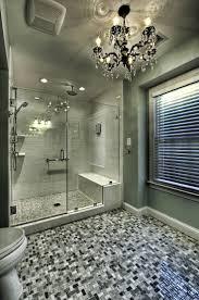 Shower Bathroom Shower Light Tile Floor Patterned Bathroom Designs With