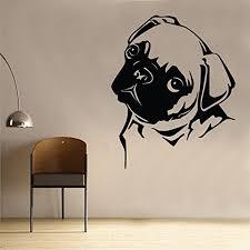pug home decor pug wall sticker art kids girls riding room dog animal an42 60cm x