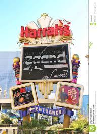 Harrah S Las Vegas Map by Harrah U0027s Hotel And Casino Sign In Las Vegas Editorial Photography