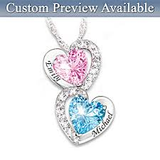 birthstone necklace every beat of my heart personalized birthstone heart pendant necklace