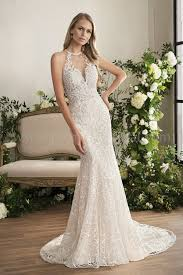 illusion neckline wedding dress t202004 illusion bodice halter illusion neckline embroidered
