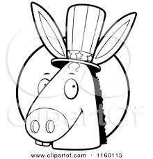 donkey black white clipart 1919409
