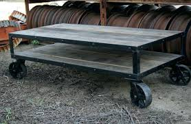 round coffee table with casters small coffee table on wheels coffee tables industrial rustic coffee