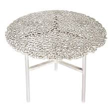 white outdoor side table jean white bronze lost wax cast butterfly indoor or outdoor side
