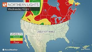 northern lights location map strong solar storm may bring chance to view northern lights to