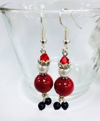 christmas earrings christmas earrings kit with swarovski elements