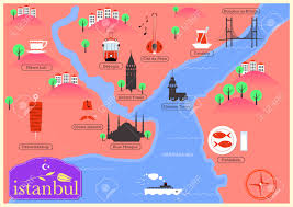 istanbul turkey map city map of istanbul turkey royalty free cliparts vectors and