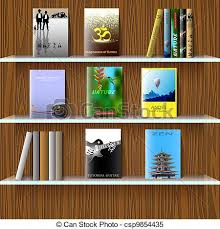 Bookcase With Books Clipart Vector Of Bookshelf With Books Vector Eps10 Csp9854435