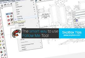 the smart way to use follow me tool sketchup boxsketchup box