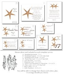 Blank Wedding Invitation Kits Beach Wedding Invitation Kit 8 Printable Starfish Templates
