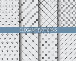 8 different classic black and white patterns endless texture