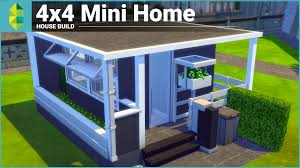 mini homes the sims 4 house building 4x4 mini home youtube