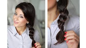 hairstyles with one elastic organic braid how to braid without an elastic youtube