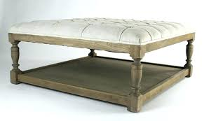 Ottoman Leather Coffee Table Tufted Leather Ottoman Etechconsulting Co
