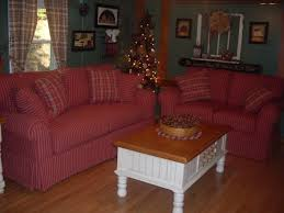 red checked primitive couch my country living room living room