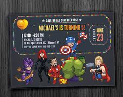 Superhero Invitation Card Avengers Invitation Birthday Printable Download