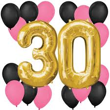 30th birthday balloon bouquets chic 30th birthday pink black and gold birthday balloon