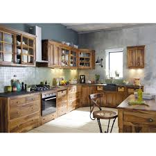 cuisine luberon maison du monde meuble bas de cuisine en bois de sheesham massif l 120 cm luberon