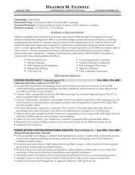 Mental Health Technician Resume Resume Bullet Points Examples 11 General Manager Job Description