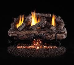 real fyre chas charred aged split vent free gas log set ansi