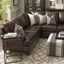 brown leather couch living room ideas get furnitures for perfect brown leather sectional sofa with additional sofas