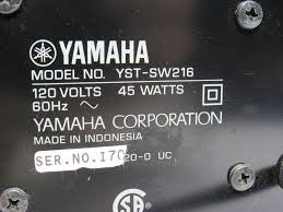 powered home theater subwoofer yamaha yst sw216 powered subwoofer 10 inch 100 watts black home