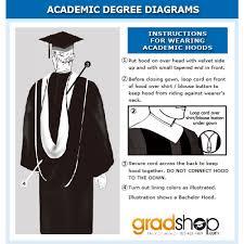 academic hoods deluxe black bachelor academic cap gown tassel gradshop