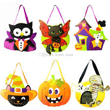 diy paper halloween goody bags pumpkin ghost witch trick or treat