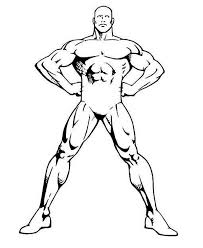 bodybuilder human body coloring pages coloring sky