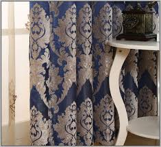 Damask Kitchen Curtains by Blue And Gold Kitchen Curtains Curtains Home Design Ideas