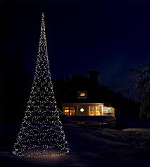 stylish ideas flagpole christmas tree strings of lights turn the
