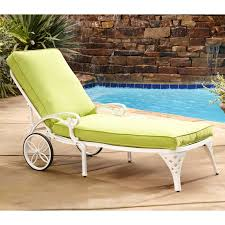 Outdoor Chaise Lounge Furniture Woodard Capri Wrought Iron Multi Position Single Outdoor Chaise