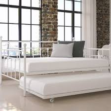trundle bed with mattress wayfair