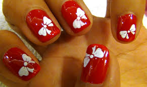 nail art tutorial for beginners cute bow youtube