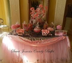 pink wedding candy buffet candy bar