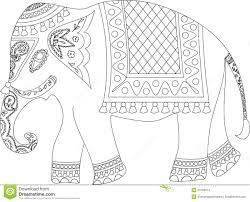 indian elephant outline simple sketch stock illustrations u2013 5