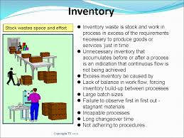 of inventory 7 wastes lean manufacturing tools