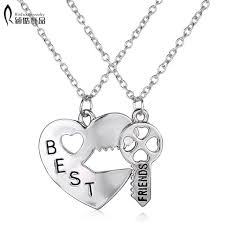 personalized gifts jewelry 2p vintage puzzle pendant necklace handsted best friends