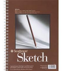 sketch pad strath 9x12 spiral 50sh 60lb 455 9